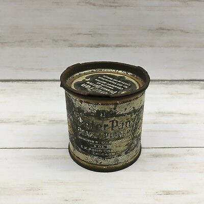 Vintage Peter Pan Peanut Butter Empty 6 oz Advertising Tin
