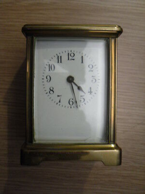 Vintage French Brass Carriage Clock For Spares Or Repair