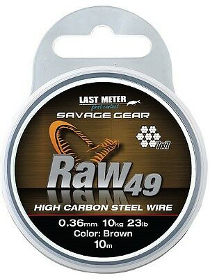 Savage Gear Raw 49 10m Coil 7x7 Steel Compartment High Carbon Steel Wire Brown