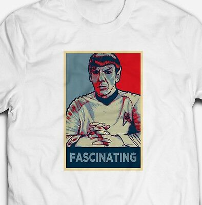 Fascinated Spock Trekkie Sci Fi Hope Poster Parody - Mens T-Shirt Tshirt Tee Top