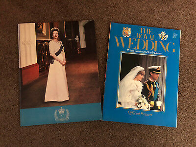 Vintage Royal Wedding Princess Diana & Prince Charles + Queen Elizabeth Programs