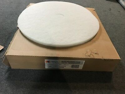 """New Lot of 5 Triple S SSS White Polishing Buffing Pads 27"""" 175-600 RPM 75336"""