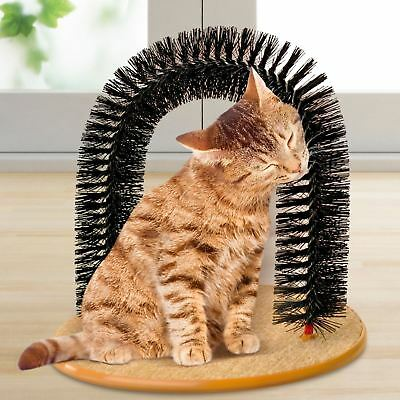 Dog/Cat Massaging Scratching Scratcher Pet Arch Self Grooming Soft Groomer Toy