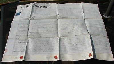1829 LARGE English Vellum Indenture - Meddington, in the County of Lincoln