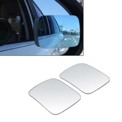 2x Adjustable Car RV Blind Spot Mirror Glass Auxiliary Rear Side View Wide Angle