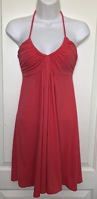 45f8d15c5623 Victoria's Secret Bra Tops Halter Dress Fuchsia Coral Built In Bra Size Xs