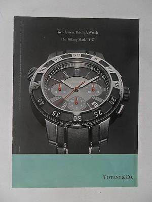 2004 Print Ad Tiffany & Co. Watch Watches ~ Gentlemen, This Is A Watch