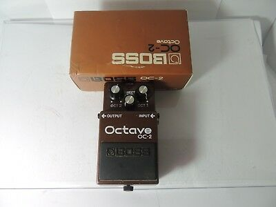 Vintage Boss OC-2 Octave Effects Pedal Made in Japan MIJ w/Box and Manual