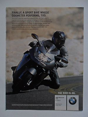 2007 Print Ad BMW K 1200 S Motorcycle ~ A Sport Bike Whose Odometer Performs