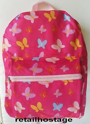 "15"" Kids Colorful Butterflies Backpack Pre School Toddler Book Bag Preschool"