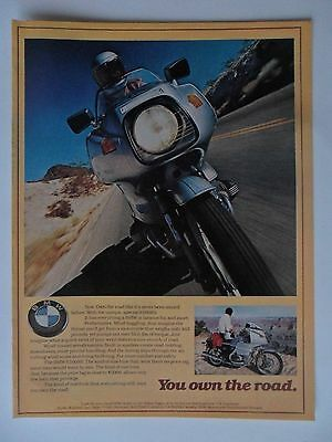 1977 Print Ad BMW Motorcycle R100RS ~ You Own the Road Mind Boggling Performance