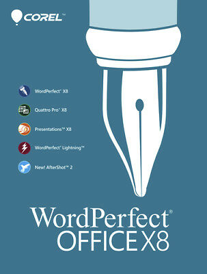 Corel WordPerfect Office X8 Home & Student 3-PC New! Product Key Card