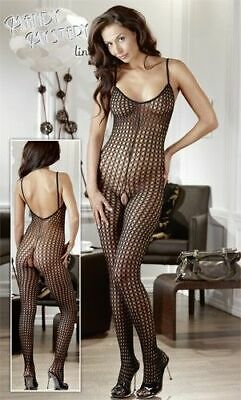 Mandy Mystery lingerie Catsuit schwarz S/M Overall Anzug Body Bekleidung