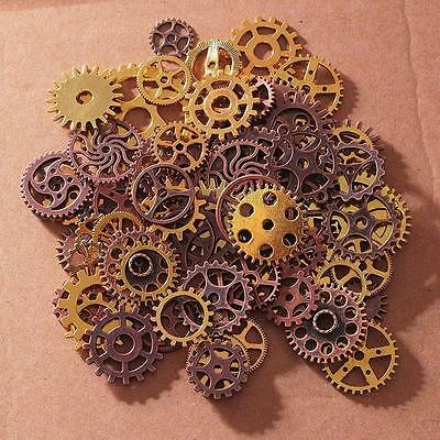100g Charms Steampunk WATCH Parts Old Pieces Steam Punk Cogs Gears Wheel Vintage