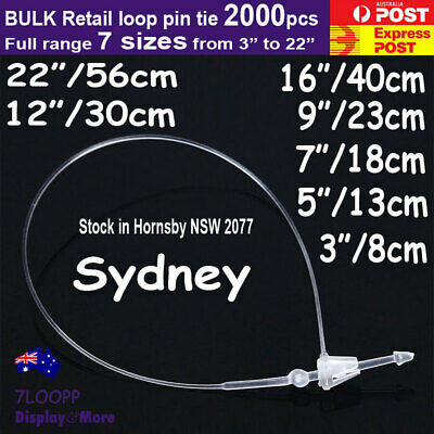 Loop PIN Tie Snap LOCK Tagging-Clear | 1000pcs | for RETAIL Tags | AUSSIE Seller