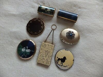 Vintage Cosmetic Compacts Spare / Repair Job Lot
