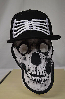 NEW Men's,Women's Boy's Skeleton Baseball Cap Trucker Hats With removable MASK