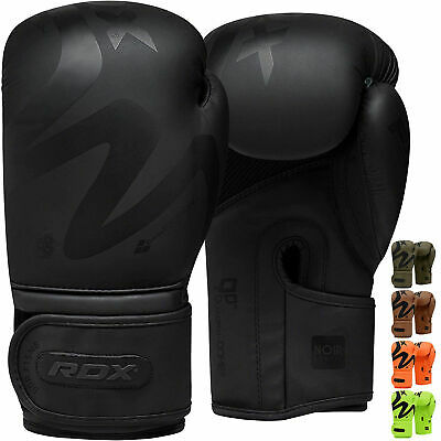 RDX Leather Boxing Gloves MMA Training Fighting Punch Bag Sparring kickboxing AU