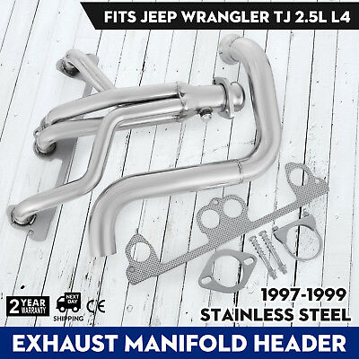 Performance Exhaust Header System//Kit 97-99 For Jeep Wrangler TJ 2.5L 4-Cylinder