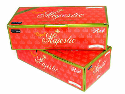 Royal Majestic Red Full Flavor 100MM - 2 Boxes - 200 Tubes Box Tobacco Cigarette