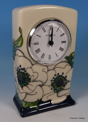 "MOORCROFT Snow Song Flowers 6"" Clock Rachel Bishop CL1 RRP £195 Trial"