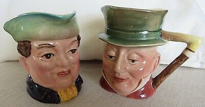 Beswick Small Toby Character Jugs - Mr Varden 1204  and Mr Micawber 674