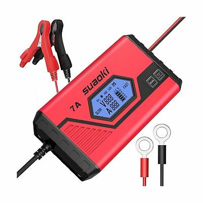 Suaoki UltraSafe Battery Charger Maintainer (Charges, Maintains, Diagnose and...