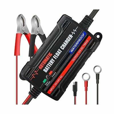 MICTUNING Battery Charger & Maintainer,6V 12V Intelligent Fully Automatic Sma...