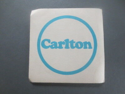 "1 only CARLTON  ""Qld""  Issue Late 1960,s Issue  beer  COASTER 107mm Square"