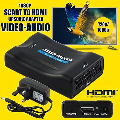 Scart To HDMI MHL Converter Audio Video Adapter For 1080P STB HDTV Sky Box