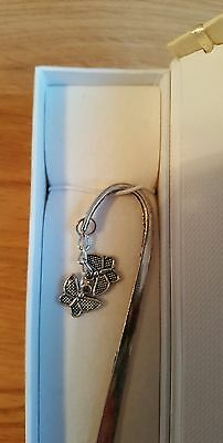 Bookmark butterfly charm handcrafted birthday gift and box NEW