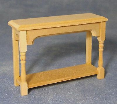 1:12 Scale Natural Finish Wood Hall Side Table Tumdee Dolls House Miniature 108