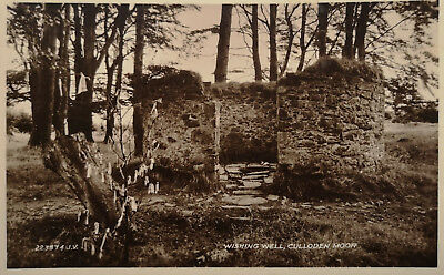 Wishing Well, Culloden Moor, Scotland Postcard 223874 Valentines RP VG 1933