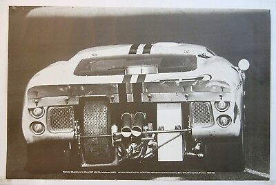 1967 LeMans Original Ford GT40 Racing Poster SCCA USRRC Carroll Shelby USAC