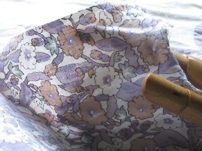 VINTAGE 30's MUTED LAVENDER SMALL FLOWER COTTON Remnant 34.5Wx23L/DOLLS