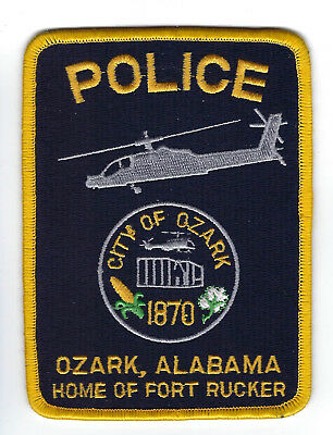 Ozark (Dale County) AL Alabama Police Dept. patch - NEW! *FORT RUCKER*