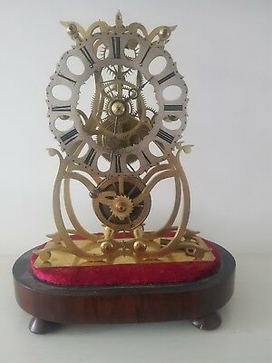 T&G Gilbert of Rugeley Staffordshire, 5 Spoke Fusee Skeleton Clock C'1850
