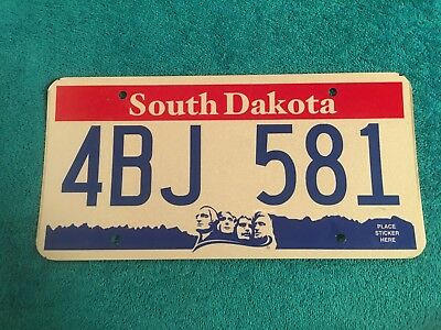 South Dakota Mount Rushmore License Plate Tag 4Bj 581 Never Issued Expired