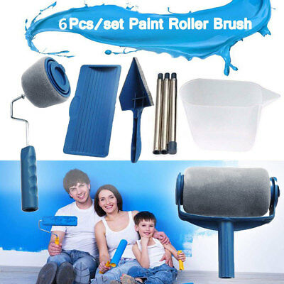 Paint Runner Pro Renovator Handle Tool Roller Room Wall Flachpinsel Brush Set