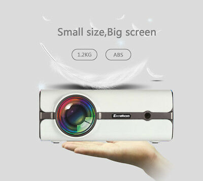 Excelvan Portable LED Projector Multimedia Home Theater HDMI USB SD 1080P 3D