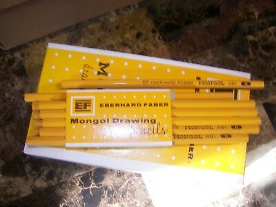 Vintage Eberhard Faber Full Box 6 Dozen  72 481-H Drawing Pencils New Old Stock