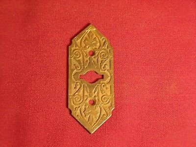 Antique Bronze Keyhole Cover Escutcheon Plate Eastlake Victorian