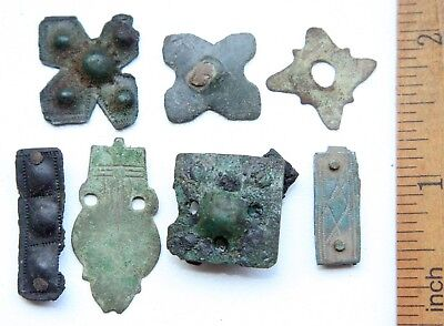 Group Of Ancient Old Ornament Overlay Avar Mount Adornment. (OCR)