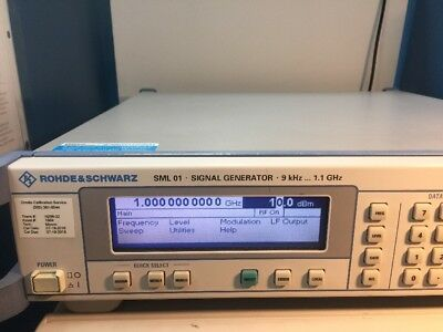 Rohde & Schwarz R&S SML01 /B1 9 kHz to 1.1 GHz Signal Generator ->Calibrated<-