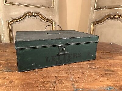Antique Metal Money Letter Document Cash Box 1872 Trinity Church Wall St