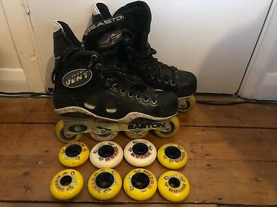 Easton Air Vent Rollerblades Hockey Mission Bauer Size 9D Excellent Condition