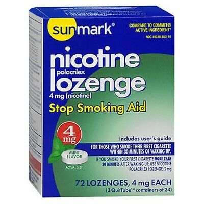Sunmark Nicotine Polocrilex Losange Menthe 72 Chaque 4 Mg
