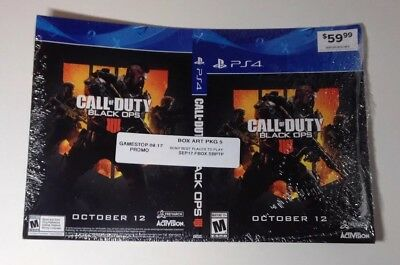 "CALL OF DUTY BLACK OPS 4 Ps4 promo cover art pack ""DISPLAY BOX ONLY"" GameStop"