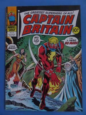 Captain Britain 35* 1977 Uk Marvel!