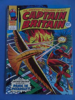 Captain Britain 30 1977 Uk Marvel High Grade!